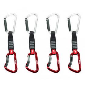 Fixe Montgrony Wide Quickdraw 12cm, 4 Stuks, grijs/rood